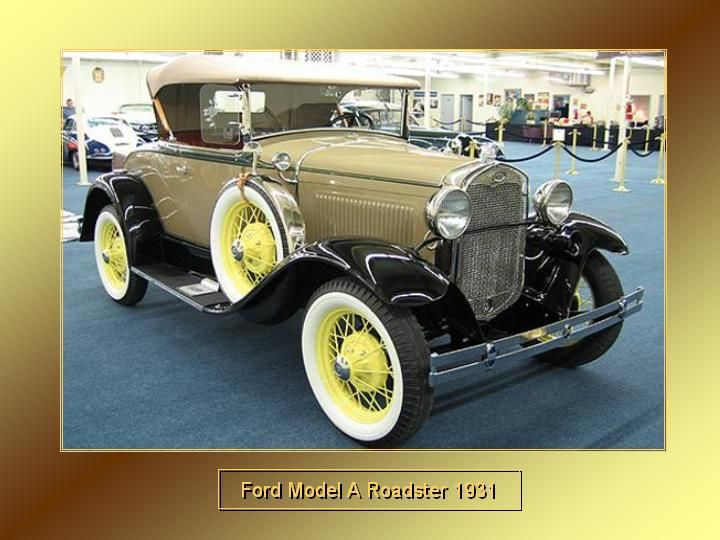 1931 - Ford Model A Roadster