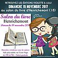 Salon du livre henrichemont (18) / dimanche 19 novembre 2017