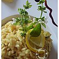 Risotto au citron confit, gingembre et basilic.....