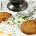 Biscuits au miel & à la fleur d'oranger