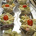 Salade d'avocat au crabe