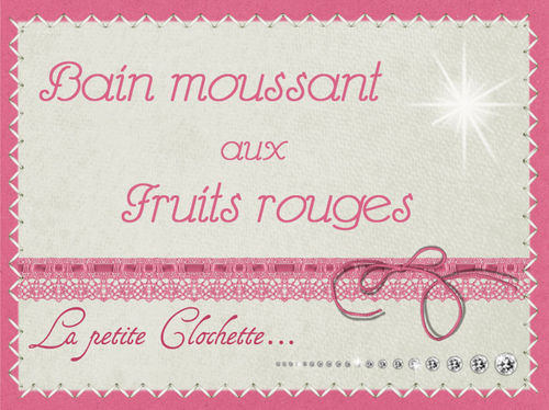 bain moussant fruits rouges