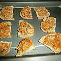 Toastine de sardine pistou