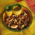 Amandes et noix grillées au piment doux