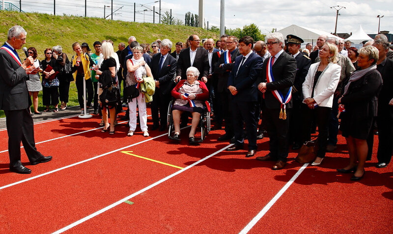 STADE CAMBRELING INAUGURATION 2016 intervention Francis Vilaire