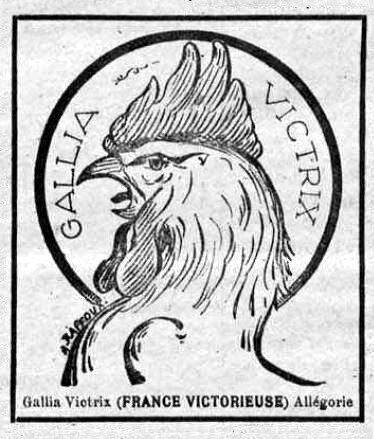 1919 08 17 Alégorie Galia Victoria La Frontière