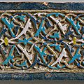 Tile with arabesque decoration, early 15th century, ottoman anatolia (bursa)