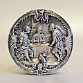 A belgian silver host box, anthone kerckhof, bruges, 1660