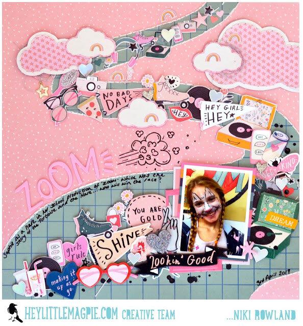 Zoom Niki Rowland Hey Little Magpie Crate Paper All Heart scrapbooking