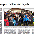 Vu dans la presse : rassemblés pour la liberté et la paix (er - 23/11/2015)