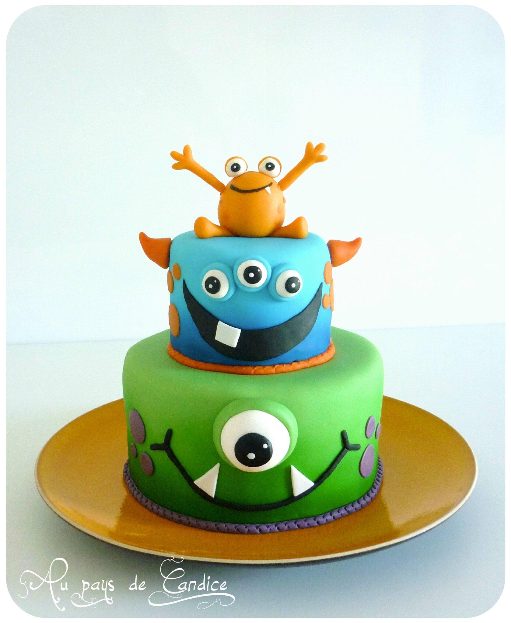 Gâteau Monstres Rigolos