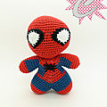 #crochet : #amigurumi spiderman, personnage de base by celenaa