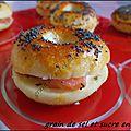 Mini bagel au saumon fumé