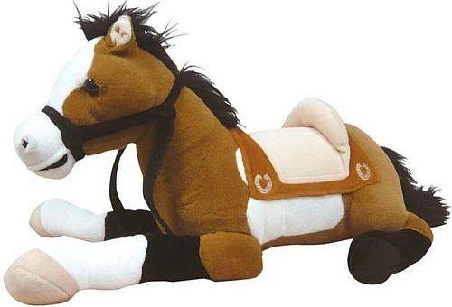 cheval en peluche