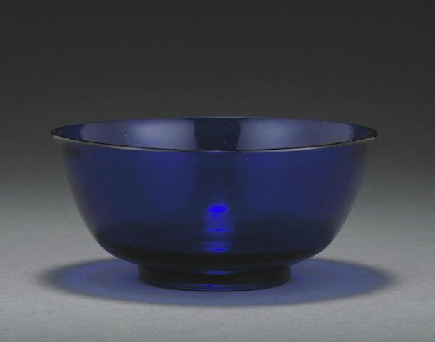 A cobalt blue glass bowl, 18th-19th century