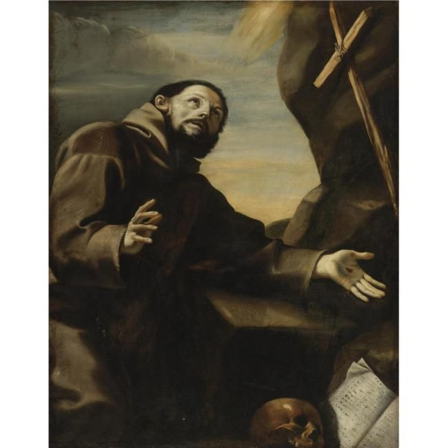 Circle of Mattia Preti, St. Francis in Prayer