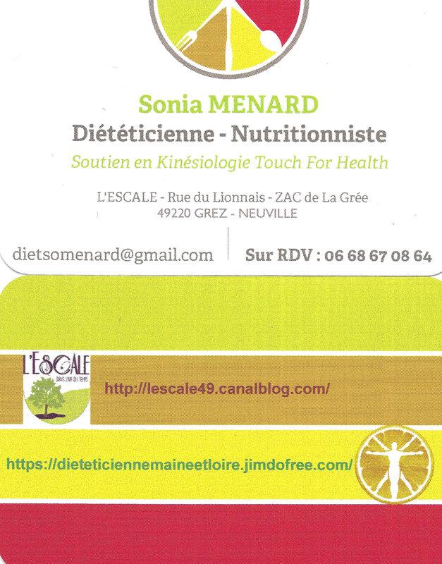 carte de visite Sonia MENARD