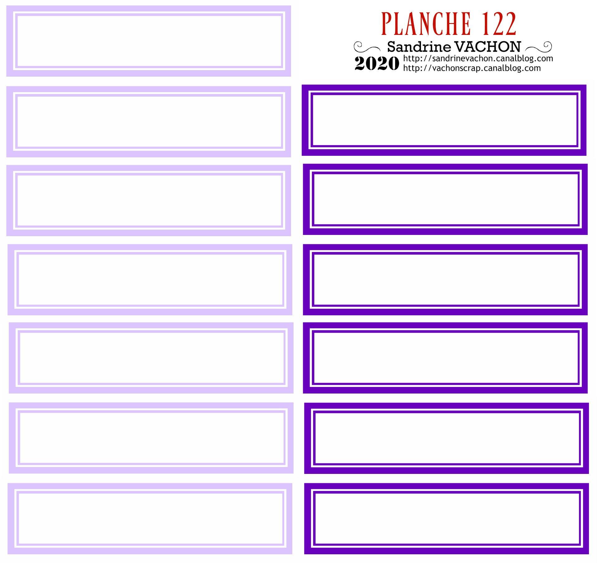 PLANCHE 122 violet