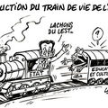 large-reduction du train de vie