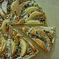 Pizza poire-roquefort-noix