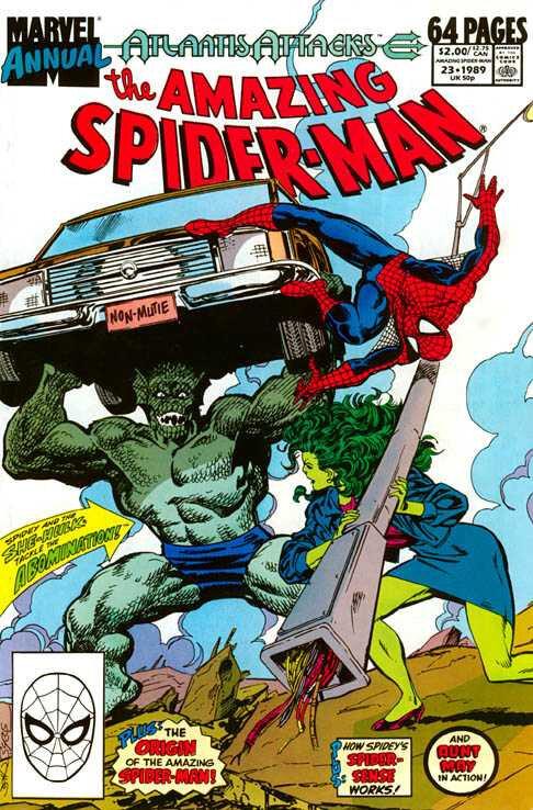 amazing spiderman 1963 annual 23 1989 atlantis attacks