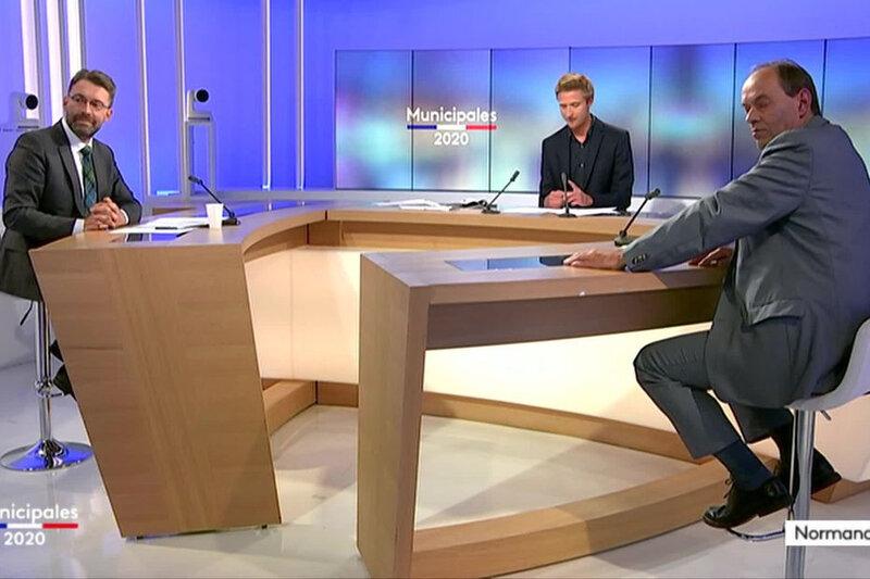 municipales 2020 à Avranches - David Nicolas vs. Génhaël Huet - débat France 3 + live facebook