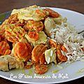 Emincé de dinde aux carottes et curry + riz = 12 pp