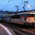 BB 25 500 à Lyon Perrache avec ses deux panthographes levés