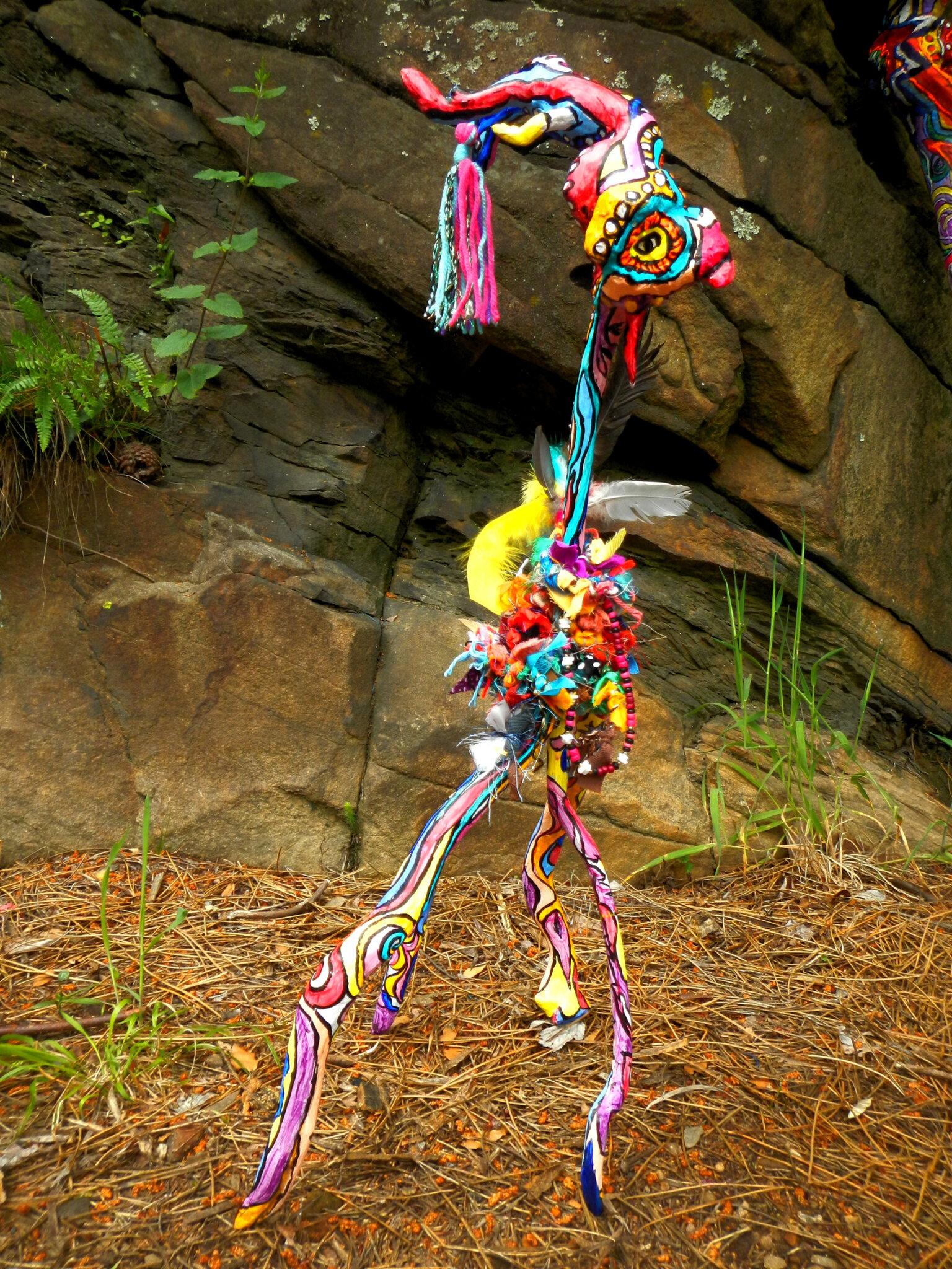 créature sculptée dans bruyère arborescente yurtao