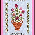 Echange ATC Chez Miou Lettre V (Vase) Marie de Clessé pour Mimi