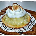 Tartelette au citron meringué light
