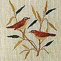 Oiseaux sur branches