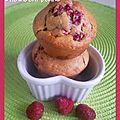 Muffins framboises/chocolat blanc