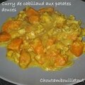 Curry de cabillaud aux patates douces