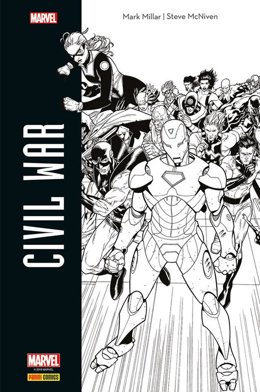 Panini Hors collection Civil War par Millar et Mc Niven Black & White