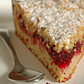Gâteau crumble vanille & canneberges