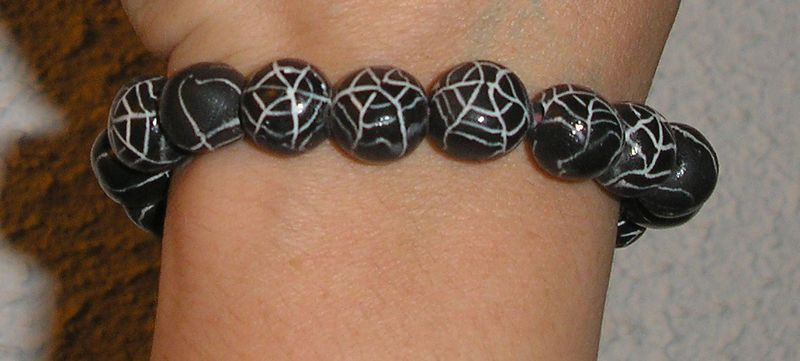 bracelet toile d'araignée