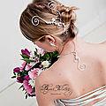 Bijoux cheveux mariage : accessoire de coiffure mariée et bijou de tête marquise