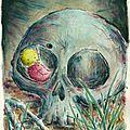 La chenille, l'araignée et le squelette.