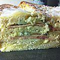 Croque-cake dinde fumee et gorgonzola