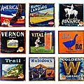 Publicités vintage pour des oranges californiennes