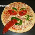 Pizza d'halloween avant cuisson
