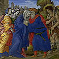 Filippino lippi (c. 1457-1504), the meeting of joachim and anne outside the golden gate of jerusalem, 1497