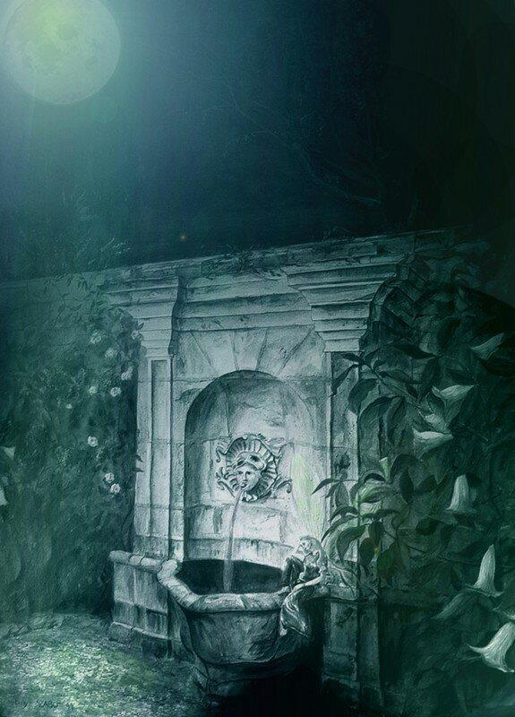 1 Serre de la Madone - la fontaine du jardin (R)