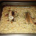 Pavé de saumon et risotto à la crème