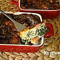 Clafouti saumon & épinard
