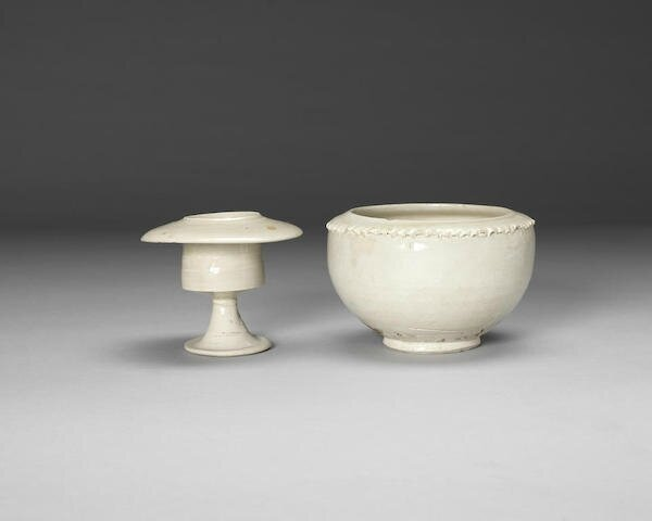 Two white glazed wares, Northern Song, 10th century