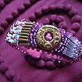 Bracelet perlé rose