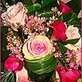Art floral : un bouquet d'anniversaire
