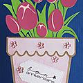 Des pots de fleurs